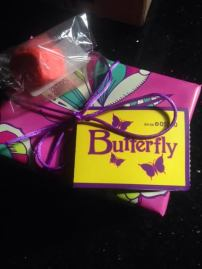 Lush Butterfly Wrapped Gift