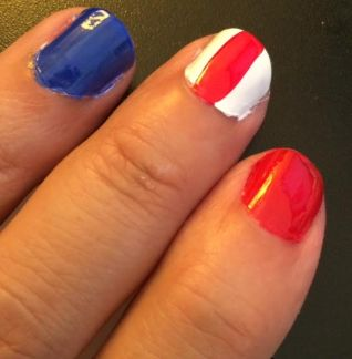 Sally Hansen 4th of July Nails